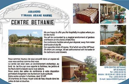 Voyage sur-mesure, Centre Béthanie de Kibuye